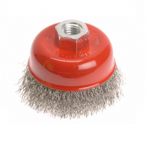 Faithfull FAIWBC75S Crimped Stainless Steel Wire Cup Brush 75mm M14x2